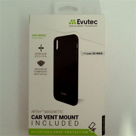 946f4a61469 Case Compatible with iPhone Xs Max, Evutec AER Series Karbon Case with  AFIX+ Vent Mount-Black - Walmart.com