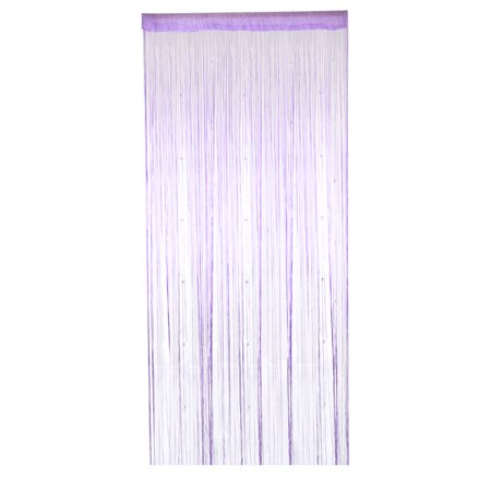 Window Door Polyester Beads Pendant Decor String Hangings Curtain Screen Purple