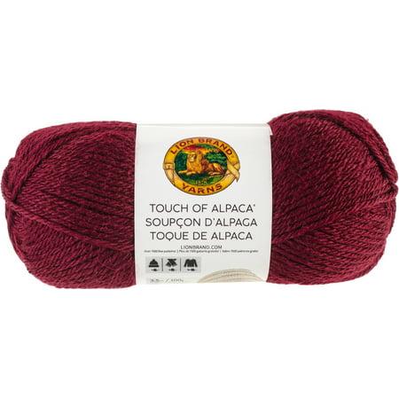 Lion Brand Touch Of Alpaca Yarn-Crimson ()