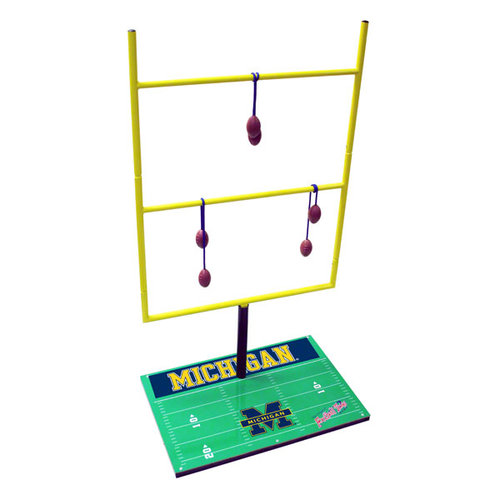 NCAA - Michigan Wolverines Ladder Golf Game: Football Toss Set 2.0