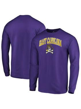 ECU Pirates Fanatics Branded Campus Long Sleeve T-Shirt - Purple