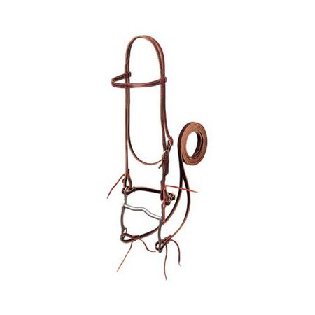 - Weaver Leather 20-0350 Horse Bridle, Burgundy Latigo Leather, 4-3/8-In. Curb Bit, 5-Ft. Reins, 5/8-In. - Quantity 1