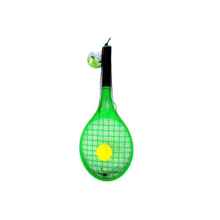 Toy Tennis Racket with Foam Ball - Set of 12