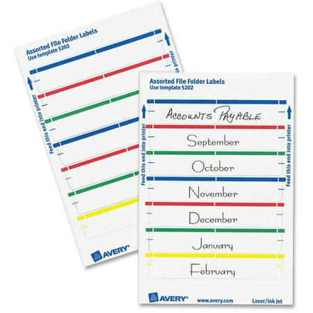Avery Print Or Write File Folder Labels 1116 X 3 716 White