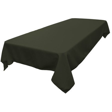 LA Linen TCpop60x120-EggplantP42 Polyester Poplin Rectangular Tablecloth, Eggplant - 60 x 120 in. (Teal Table Cloth Linen)