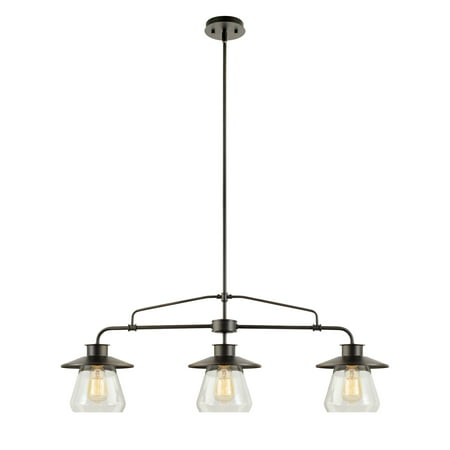 Globe Electric Nate 3-Light Oil Rubbed Bronze Pendant,