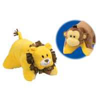 Flip 'N Play Friends 2 in 1 Plush to Pillow Monkey to Lion