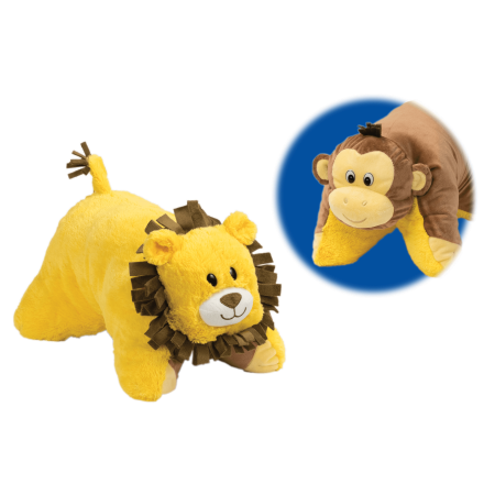 Flip 'N Play Friends 2 in 1 Plush to Pillow Monkey to - Monkey Mascot