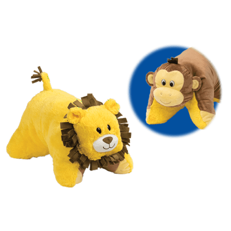 Flip 'N Play Friends 2 in 1 Plush to Pillow Monkey to Lion - Plush Lion