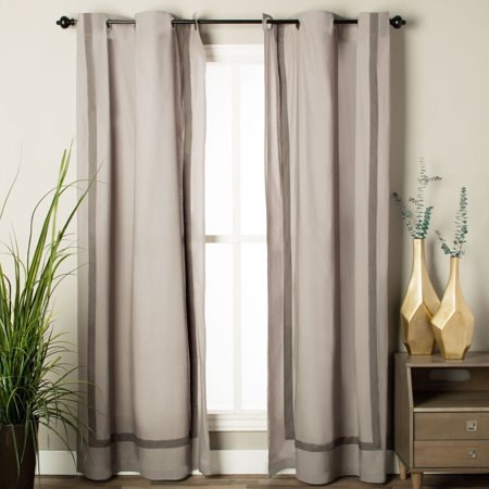 Rizzy Home Atlas Collection Solid Cotton Curtain Panel