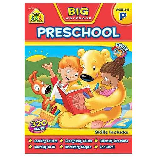 activity books big preschool workbook