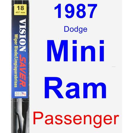1987 Dodge Mini Ram Passenger Wiper Blade - Vision (1987 Dodge Mini Ram)