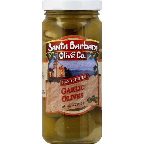 Santa Barbara Olive Co. Garlic Olives, 5 oz (Pack of 6)