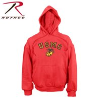 Rothco USMC Globe & Anchor Pullover Hoodie (L)- Red