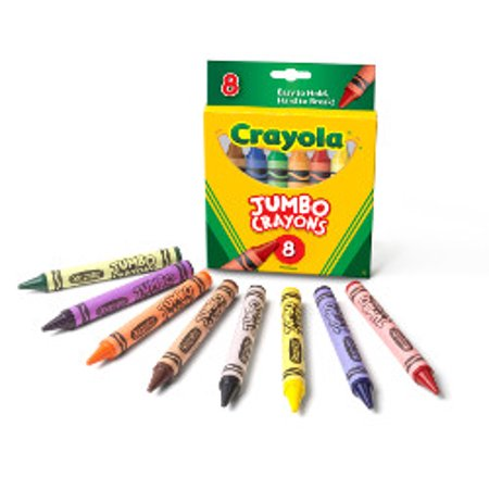 Crayon Assortment - Crayola Jumbo Crayon Set, 8-Color Set