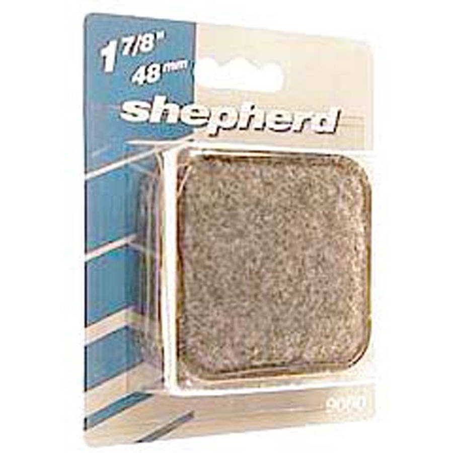 "Shepherd 9091 2"" Round Metal Carpet Base Caster Cups, 4 Count"