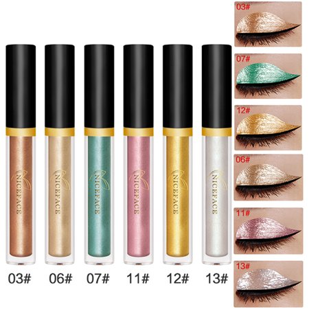 iLH Mallroom Halloween Style Metallic Smoky Eyeshadow Waterproof Glitter Liquid Eyeliner B - Cat Halloween Makeup With Eyeliner