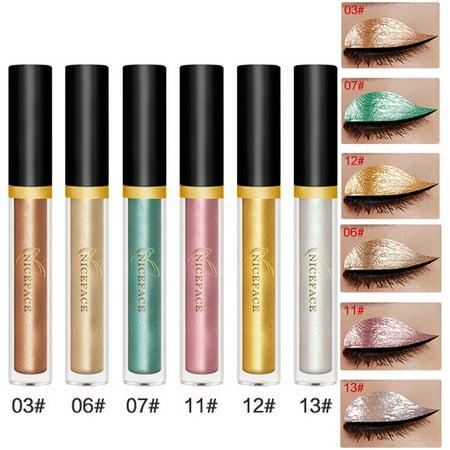 iLH Mallroom Halloween Style Metallic Smoky Eyeshadow Waterproof Glitter Liquid Eyeliner B (Dramatic Eyeliner For Halloween)