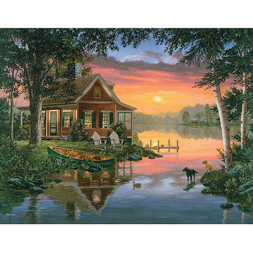 White Mountain Puzzles Friends in Summer Puzzle, 1000 Pieces