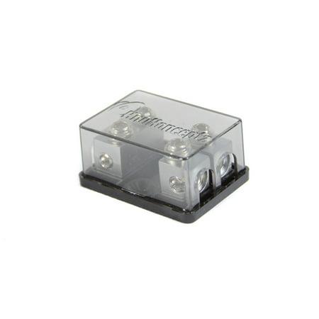KnuKonceptz Bassik 2 Way 4 - 8 Gauge Fused Distribution Block with Fuses ()