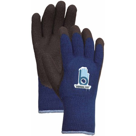 LFS Extra Extra Large Blue Thermal Knit Gloves with Rubber Palm