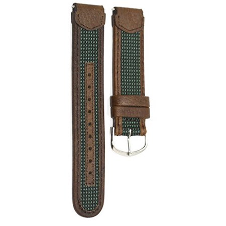 - 18MM BROWN GREEN LEATHER SPORT WATCH BAND STRAP FITS TIMEX EXPEDITION INDIGLO