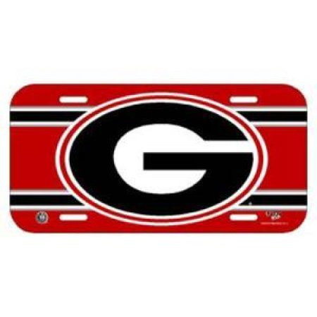 Georgia Plastic License Plate (Georgia Bulldogs Plastic License)