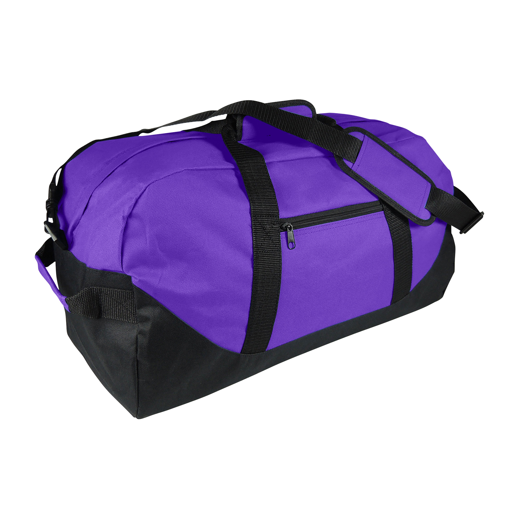 "DALIX 21"" Large Duffle Bag with Adjustable Strap in Black"