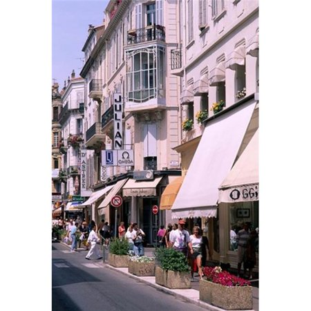 Posterazzi PDDEU09BBA0102 Shopping Scenic Cannes France Poster Print by Bill Bachmann - 19 x 28 in. - image 1 de 1