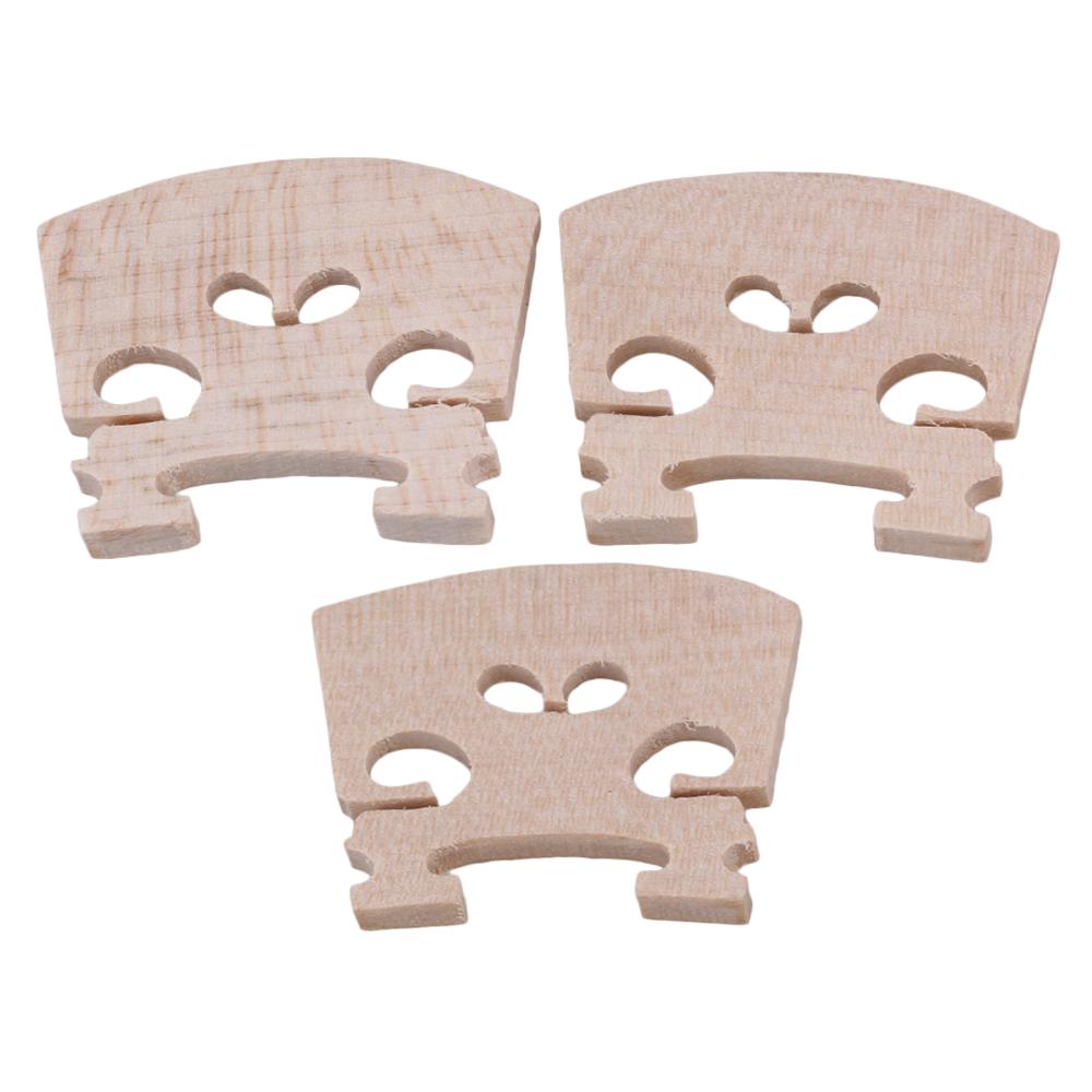 BQLZR Beige Adjustable Violin Bridge Wood for 1 8 Violin Fiddle Accessoriess Pack of 3 by