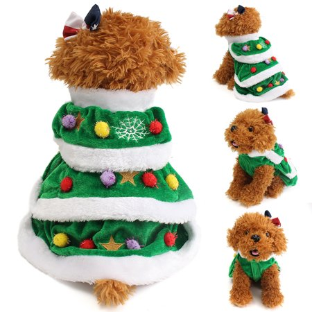Puppy Dog Clothes Christmas Pet Dog Cat Coat Cat Costumes Apparel XS S M - Christmas Pet Costumes