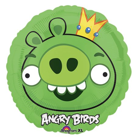 Angry Birds King Pig Foil Mylar Balloon (1ct)