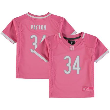 huge discount bd533 897c8 Walter Payton Chicago Bears Nike Toddler Fashion Game Jersey - Pink