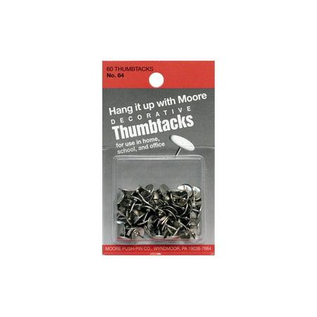 Moore Thumb Tack Decorative Nickel 60pc