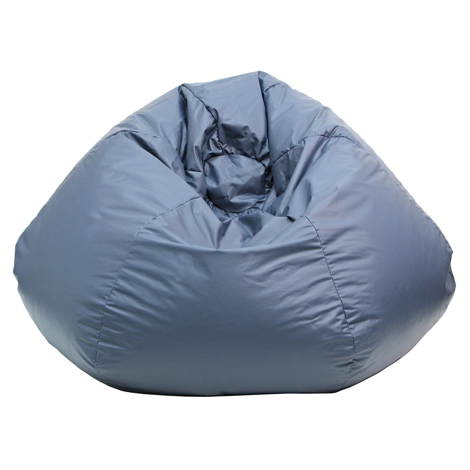 "Small 105"" Blue Faux Leather Bean Bag"