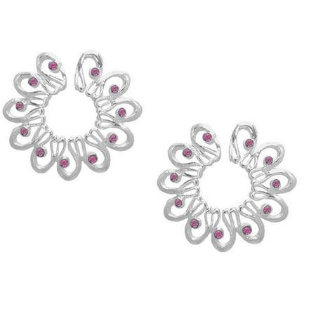 Nipple Ring Non Pierce Flower  Shield - Surgical Steel - Barbell Piercing Non Piercing Nipple