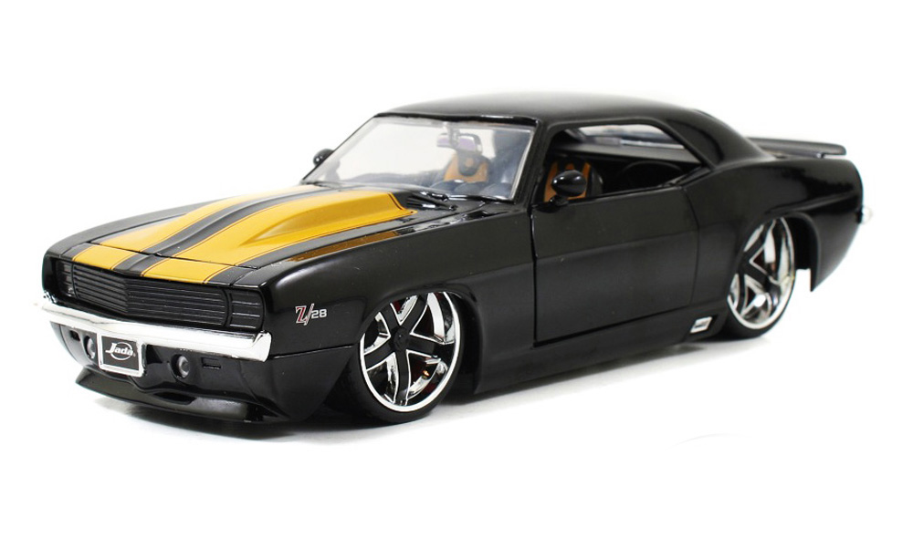 1969 Chevy Camaro, Black Jada Toys Bigtime Muscle 90210 1 24 scale Diecast Model Toy Car... by Jada