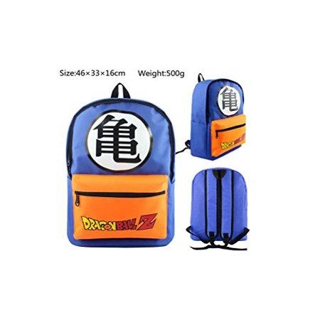 Dragonball Kame Logo Blue and Orange Full Size School Backpack - image 1 de 1