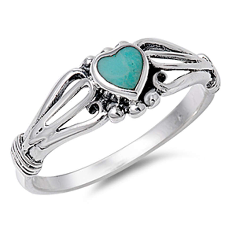 s simulated turquoise promise ring sizes 1 2