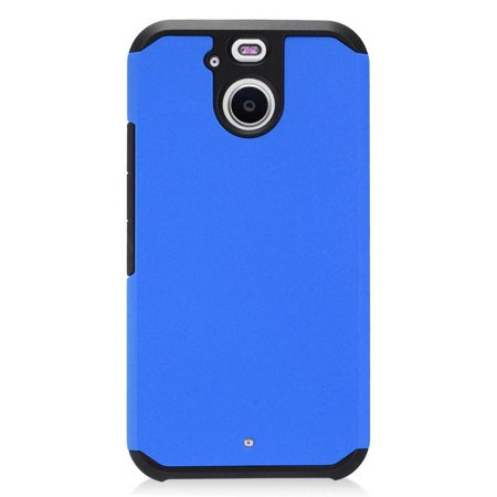 Cover 10 Bolt - Insten Rubberized Hybrid Dual Layer Hard Plastic/Silicone Cover Protective Case For HTC 10 EVO / Bolt - Blue/Black