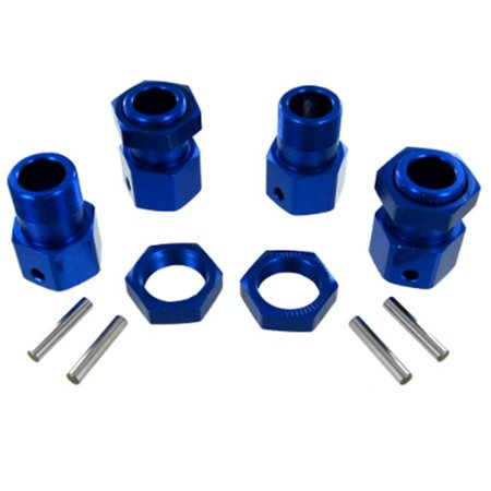 Redcat Racing 050030 23mm Blue Aluminum Wheel Hex & Nut 4P Set for Rampage MT TT