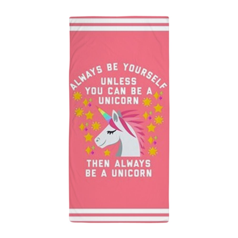 """CafePress - Always Be Yourself Unicorn - Large Beach Towel, Soft 30""""x60"""" Towel with Unique Design"""
