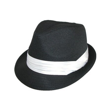 Men's Wedding Dress Formal Fedora - White Cap And Gown