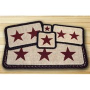 Earth Rugs 84-344BS Wicker Weave Trivet, Burgundy Star,