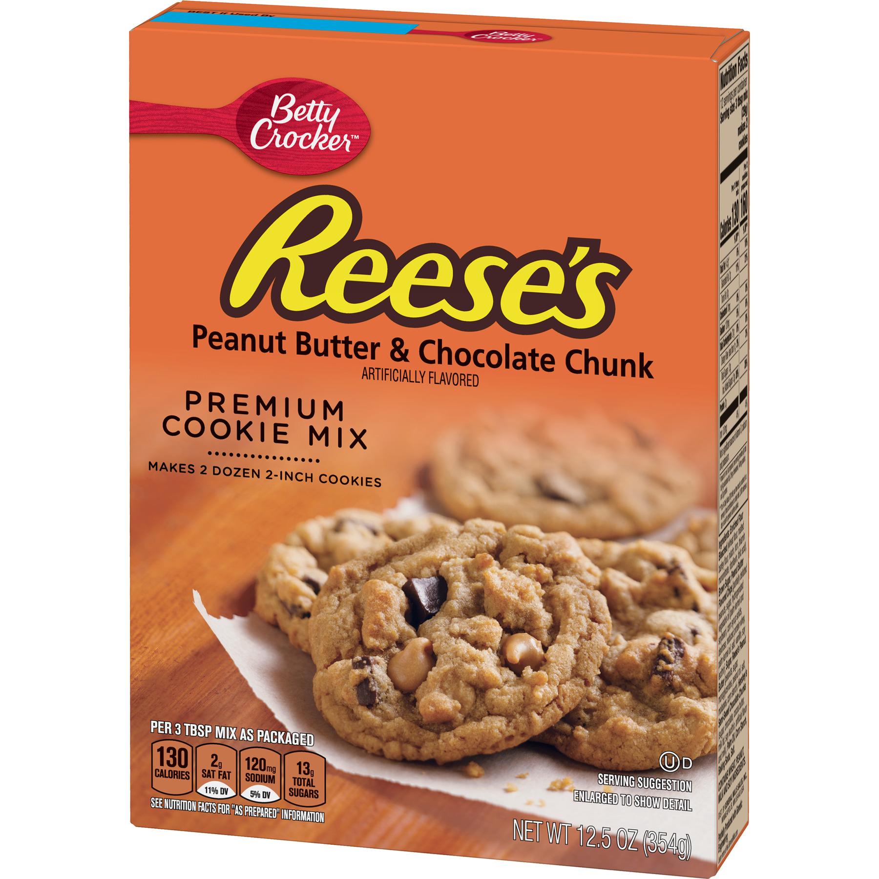 Betty Crocker Reese S Peanut Butter Choc Chunk Cookie Mix 12 5 Oz Walmart Com Walmart Com