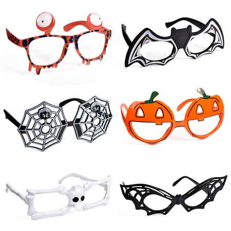 Halloween Party For Children (Halloween Kids Supplies, Halloween Party Favors for Kids, 6 Styles Halloween Glasses for Halloween Toys, Gift, Prizes 6pcs)