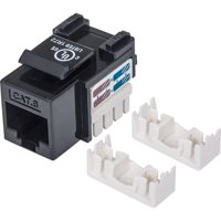 Intellinet 210720 Intellinet Cat6 UTP Punch-down Keystone Jack, Black - Plastic housing for use with 22 to 26 AWG stranded and solid wire