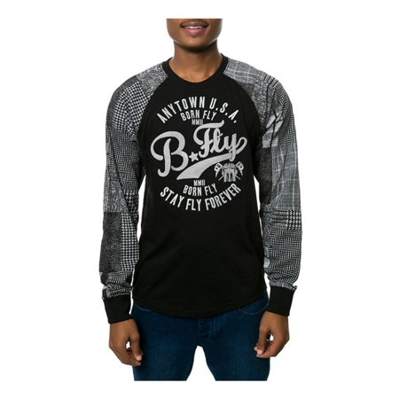 Casablanca Sleeve (Born Fly Mens The Casablanca Raglan Embellished T-Shirt blk S)
