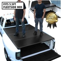 For 2004 to 2014 Ford F150 Truck 5.5Ft Short Bed Hard Solid Tri -Fold Clamp -On Tonneau Cover 08 09 10 11 12 13 14