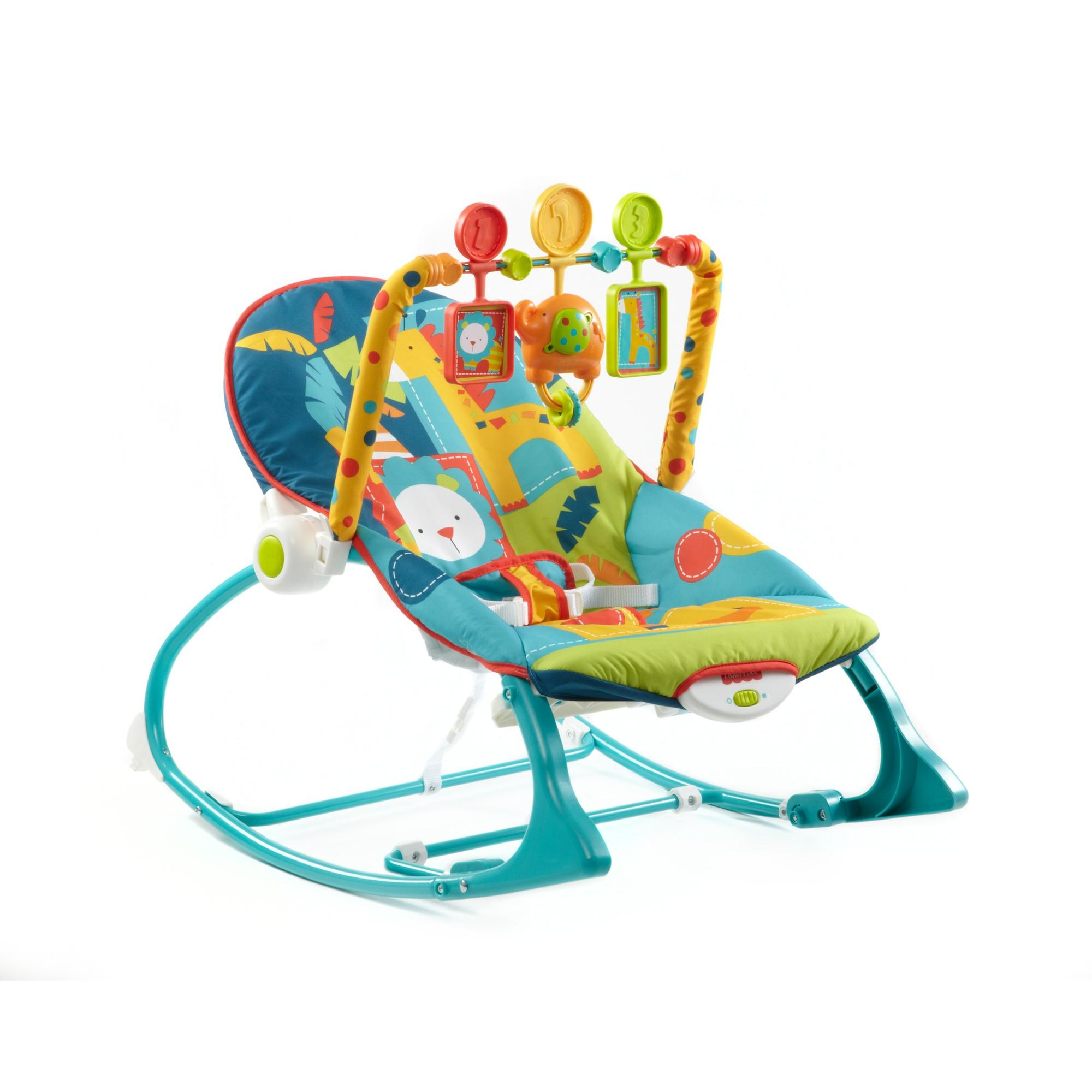 Fisher-Price Infant to Toddler Rocker Sleeper, Safari Pattern